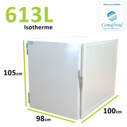 Caisson Isotherme 613L Amovible