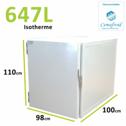 Caisson Isotherme 647L Amovible