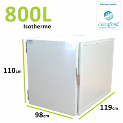 Caisson Isotherme 800L Amovible