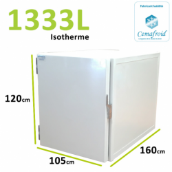 Caisson Isotherme 1333L Amovible