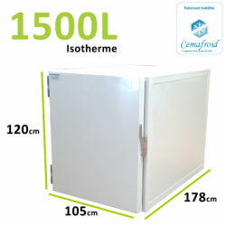 Caisson Isotherme 1500L Amovible