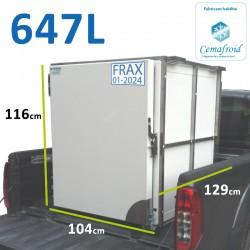 Caissons frigorifique pick up 647 L