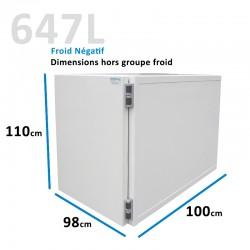 Caisson Frigorifique froid Négatif 647L amovible