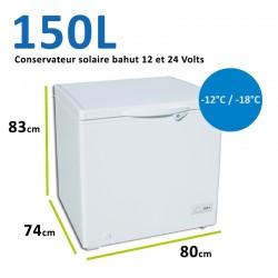 Conservateur bahut pour installation solaire 12 et 24 Volts 150L