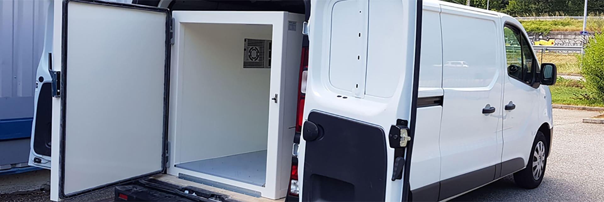 Caisson réfrigéré amovible - Solutions de transport réfrigéré pour utilitaire